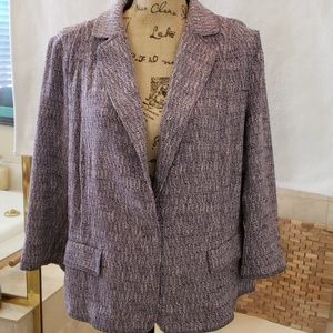 J. Jill Textured Tweed Blazer